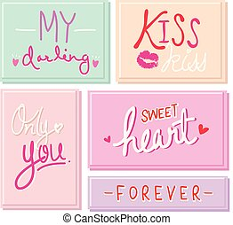 Sweetheart I Love You Valentine Text Free Hand Vector