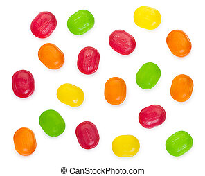 Sweetmeats candy isolated on a white background