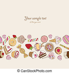 Sweets background with place for your text