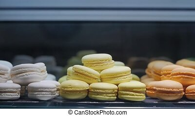 Sweets bakery macaroons colored sweet shop