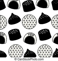 sweets cakes of chocolate pattern