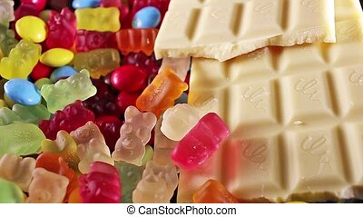 Sweets. Chocolate candies candy texture gum gummy bears bear...