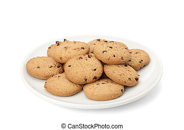 sweets cookie isolated on white background with path