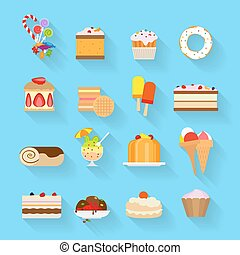 Sweets flat icons