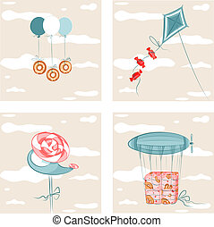 Sweets Flight Set 2 - EPS8 vector illustration. Well...