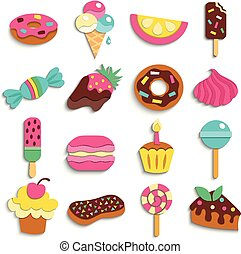 Sweets Party Treats Icons Collection
