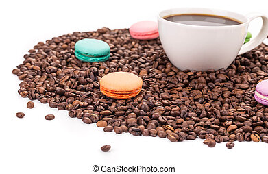 Sweets with cup of coffee