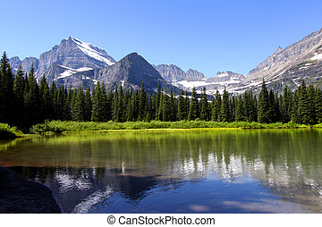 Swift current lake - Scenic Swift current lake near Many...