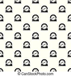Swim clock pattern seamless vector