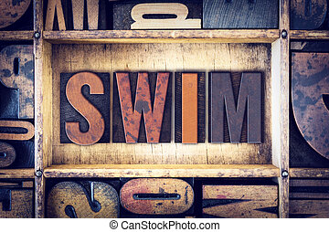 Swim Concept Letterpress Type