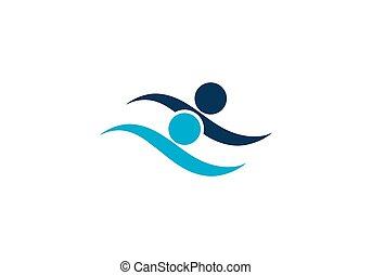 swim logo vector