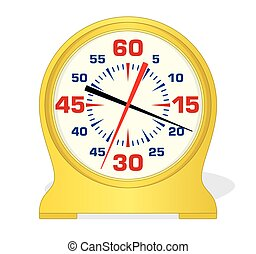 swim pace clock - analog swim pace clock in yellow on a...