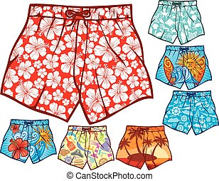 swim shorts collection (swimming trunks set, men swim shorts...