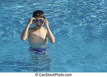 swiming, piscina, criança