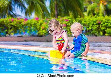 swiming, piscina, crianças