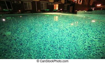 Swiming pool transparent water