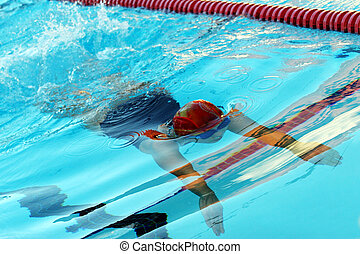 Swimmer - Abstract swimming and water texture