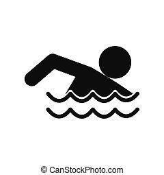 Swimmer black simple icon