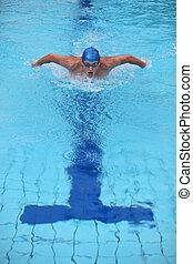 swimmer - butterfly stroke