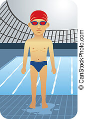 Swimmer - Competitive swimmer illustration.