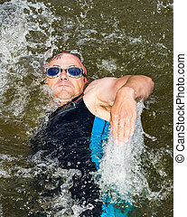 swimmer in backstroke