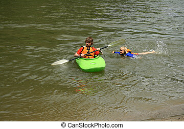 Swimming and Kayaking