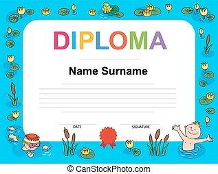 certificate kids camp certificate of participation template in