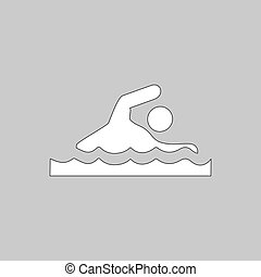 Swimming computer symbol