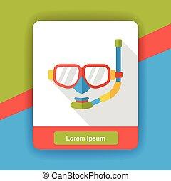 swimming Goggles flat icon