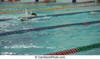 Swimming hard workouts movement to victory - Swimming sports...