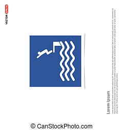 Swimming Icon - Blue photo Frame