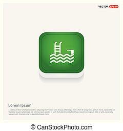 Swimming Icon Green Web Button