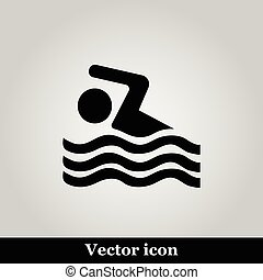 Swimming icon sign