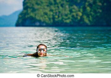 Swimming in te sea
