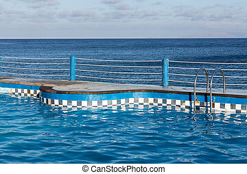 Swimming pool at coast of Madeira Island