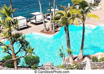 Swimming pool at luxury resort