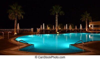 Swimming pool at the luxury hotel
