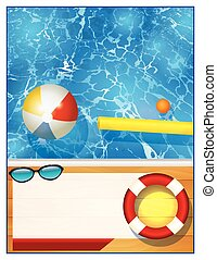 Swimming Pool Background Template - A blank swimming pool...