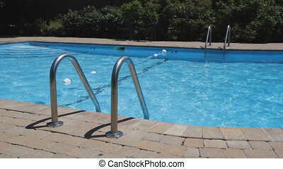 Swimming pool. - Clean, large chlorinated swimming pool.