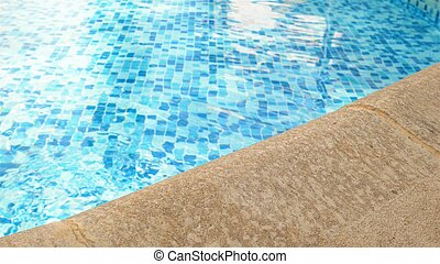 swimming pool edge - detail of beautiful swimming edge of...