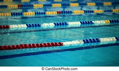 HD1080: Swimming Lane Marker close to. Tripod. loop.