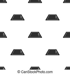 Swimming pool icon in black style isolated on white background. Hotel pattern stock vector illustration.