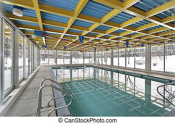 Swimming pool in condominium complex