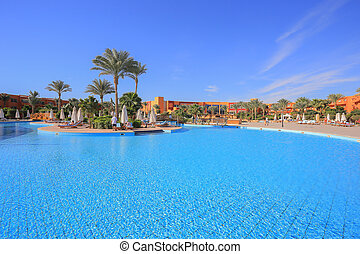 Swimming pool in Egypt resort