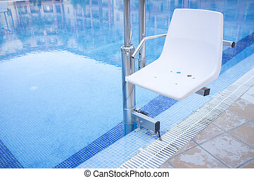 Disabled person chair swimming pool chair lift for - Swimming pool wheelchair lift law ...