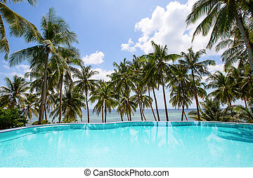 Swimming pool near the sea in Philippines