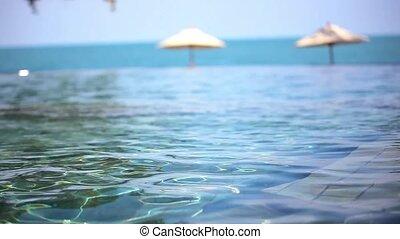 Swimming pool near the sea, island Koh Samui, Thailand.
