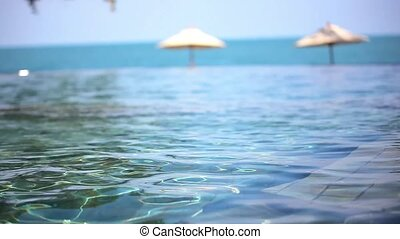 Swimming pool near the sea, island Koh Samui,Thailand.
