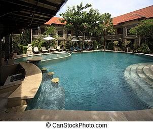 Swimming pool of hotel Adhi Jaya
