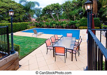 Swimming Pool - Swimming pool and entertainment area with...
